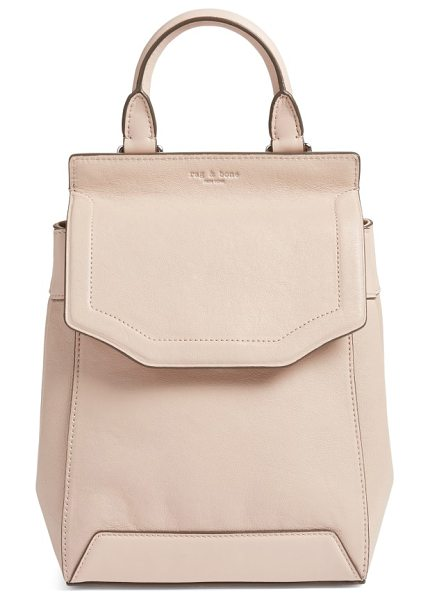 Rag & Bone small pilot ii leather backpack in rose dust
