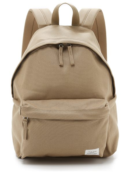 Rag & Bone standard backpack in khaki - A lightweight canvas Rag & Bone backpack with pared-down...