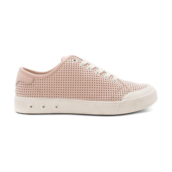 Rag & Bone Standard Issue Lace Up Sneaker in blush - Leather upper with rubber sole. Lace-up front....