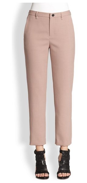 Rag & Bone Straight-leg ankle pants in antiquerose - Impeccably tailored in a menswear-inspired silhouette...
