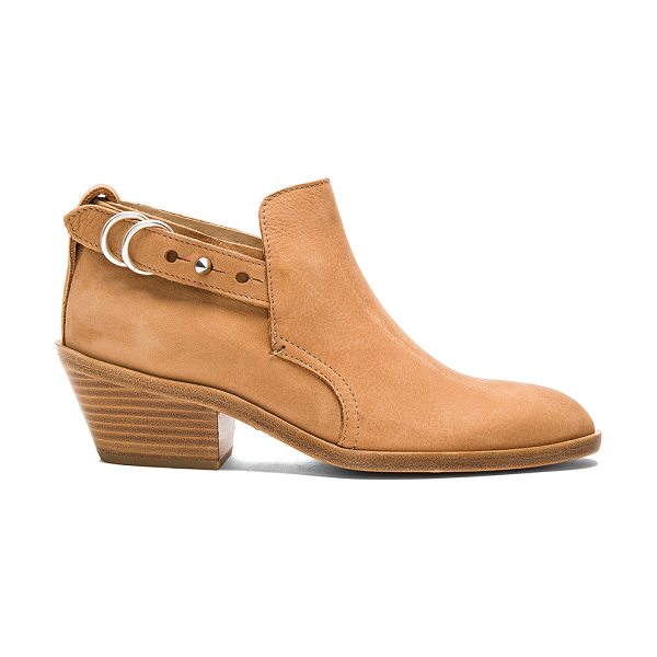 Rag & Bone Sullivan Bootie in tan - Suede upper with leather sole. Ankle strap with spike...