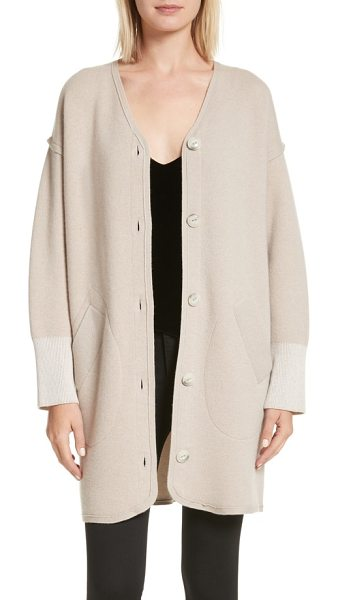 RAG & BONE sutton stretch cashmere cardigan - Oversized buttons, dropped shoulders and extra-wide...