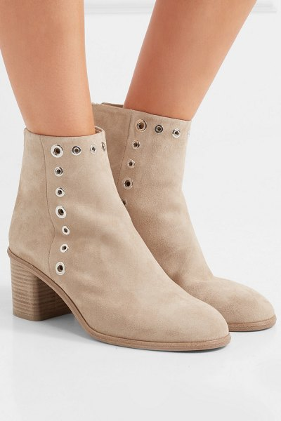 Rag & Bone willow embellished suede ankle boots in beige - rag & bone's 'Willow' ankle boots work with anything...