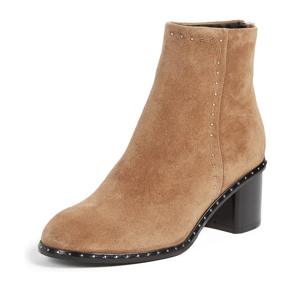 Rag & Bone willow stud booties in camel - Tiny studs add a subtle edge to these suede Rag & Bone...