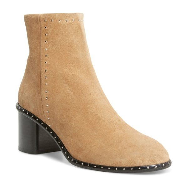 RAG & BONE 'willow' studded bootie - Gleaming circular studs add a subtle touch of edge to...