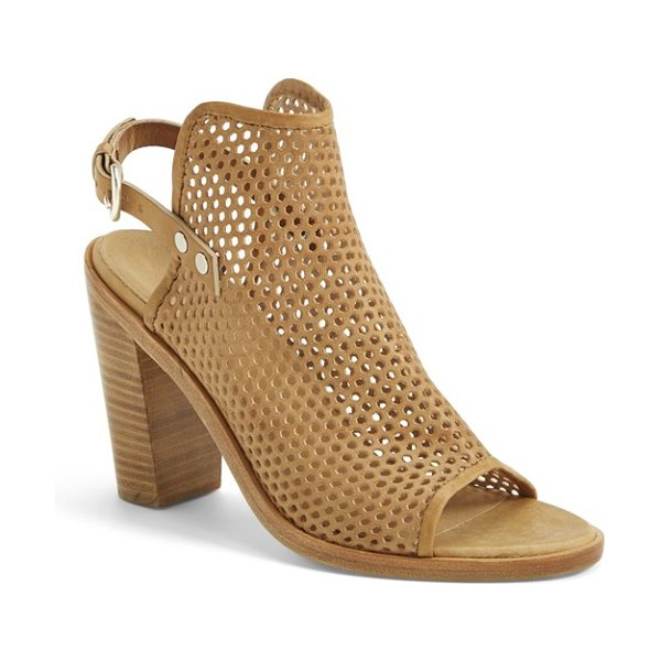 Rag & Bone wyatt sandal in sand perf - Airy perforations upgrade rag & bone's stacked-heel...