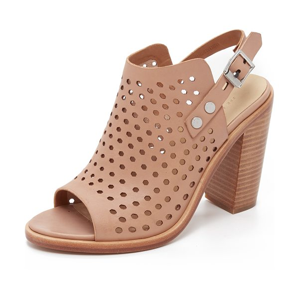 Rag & Bone Wyatt sandals in nude - Perforated leather composes these Rag & Bone sandals....