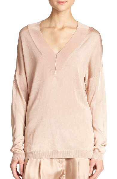 Rag & Bone Yvette v-neck sweater in rugbytan - A classic, thin-knit silhouette rendered in a relaxed,...