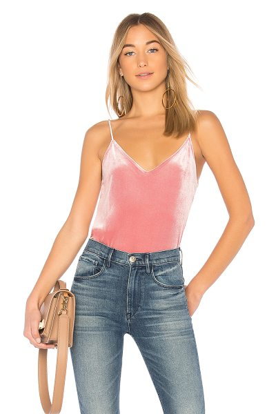 Rag & Bone Amber Cami in pink - 90% poly 10% spandex. Hand wash cold. Velvet fabric....