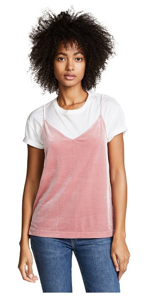 Rag & Bone amber velour cami in deep pink - This velour Rag & Bone/JEAN camisole has a relaxed,...