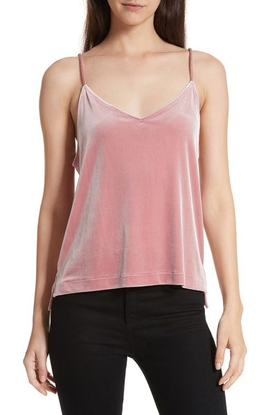 Rag & Bone amber velvet camisole in deep pink - Easy to wear and easy to pair, this simple velvet cami...