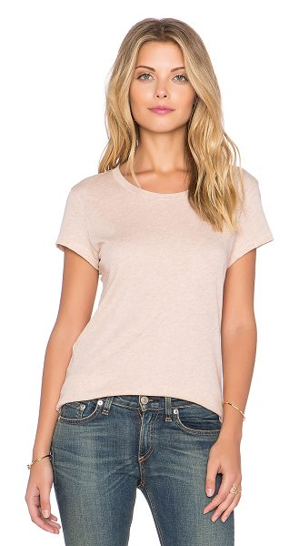 Rag & Bone Classic tee in blush - 100% cotton. Slub knit. RAGA-WS213. W255C026Y. Rag &...