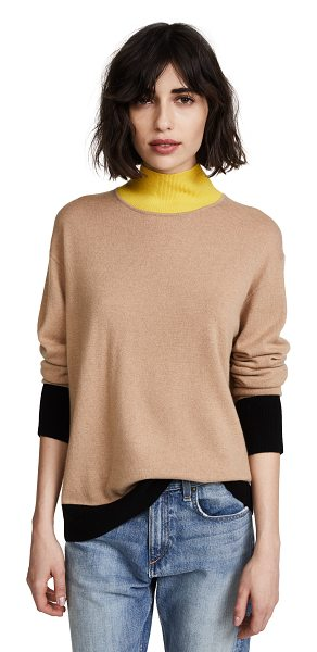 Rag & Bone rhea sweater in camel - Fabric: Fine knit Pullover style Waist-length style Mock...