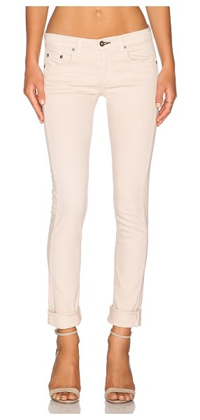 "Rag & Bone The dre boyfriend in blush - 55% cotton 42% tencel 3% spandex. 13"""" at the knee..."