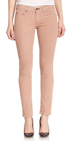 Rag & Bone The tomboy corduroy cropped skinny boy-fit jeans in tan - Cut from velvety soft corduroy, this cropped,...
