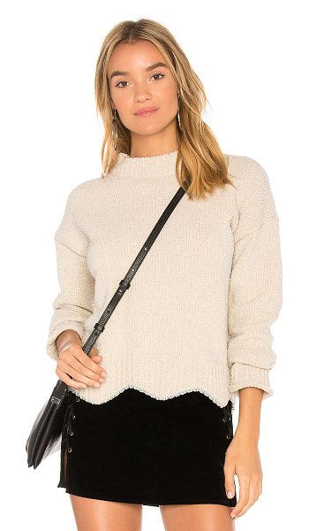 Raga Maribelle Crewneck Sweater in beige - Acrylic blend. Hand wash cold. Rib knit edges. Metallic...