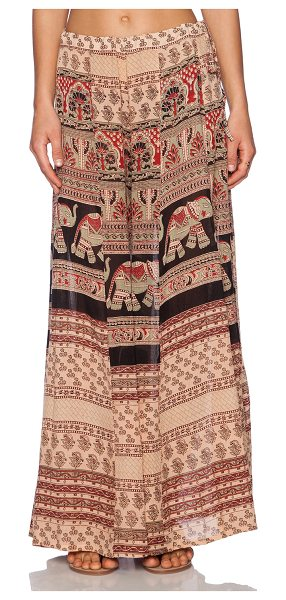 "Raga Mojave pant in beige - 100% viscose. Hand wash cold. 42"""" at the knee breaks to..."