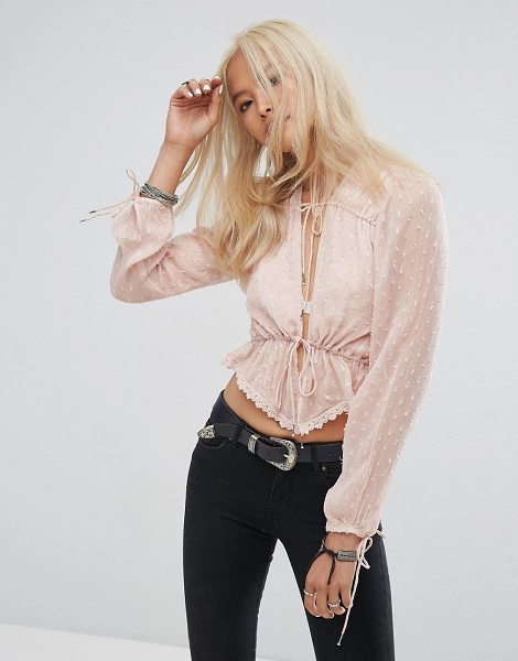 RahiCali Dulce Drawstring Top in pink
