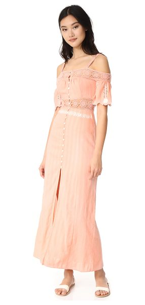 RahiCali daisy maxi dress in blush - NOTE: Runs small. Delicately textured gauze composes...