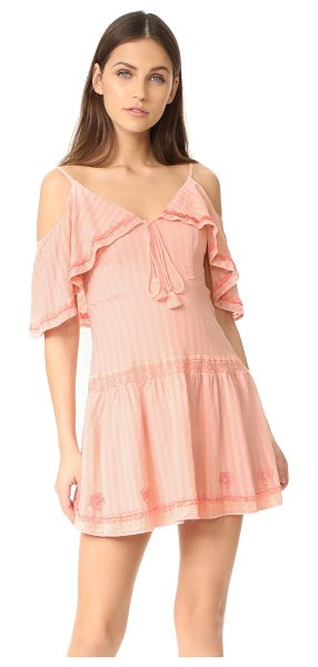RahiCali wildflower lolita dress in blush - NOTE: Runs true to size. Soft, shadow-striped gauze...