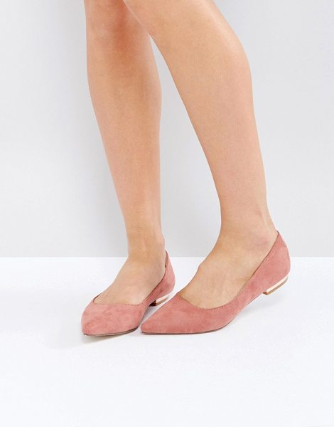 Raid RAID Agatha Pink Point Flat Shoes in pink - Flat shoes by Raid, Faux-suede upper, Slip-on style,...