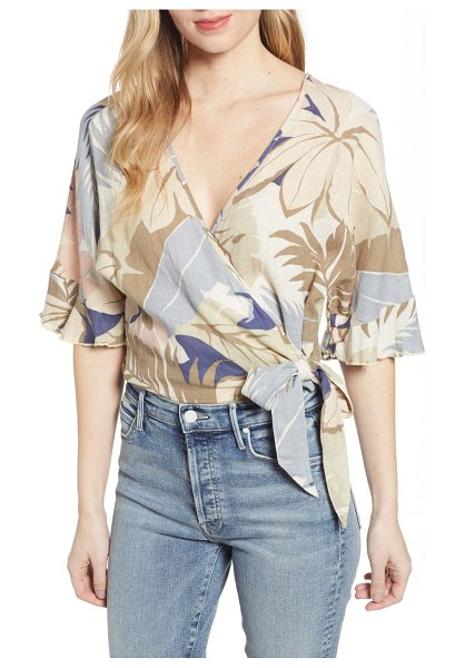 Rails athena crop wrap blouse in beige