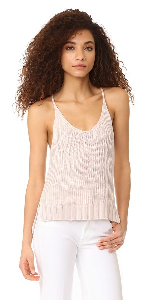 Rails ava sweater in blush - A ribbed-knit RAILS camisole, styled with a V neckline...