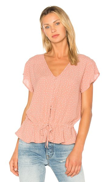 Rails Bretton Blouse in pink - 60% rayon 40% viscose. Hand wash cold. Front button...