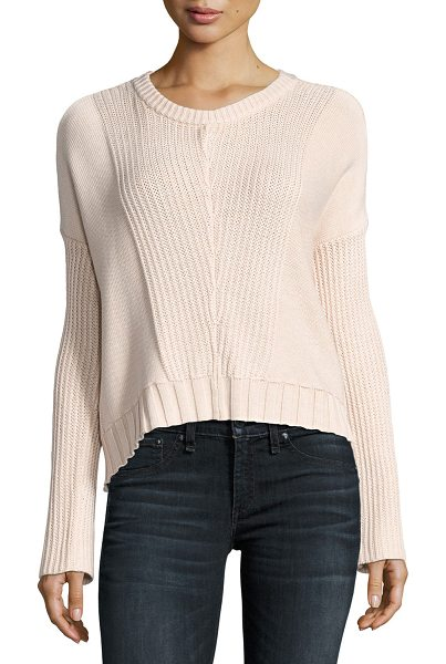 "Rails Elsa Long-Sleeve Pullover Sweater in blush - Rails ""Elsa"" pullover knit sweater. Approx. 21.5""L from..."