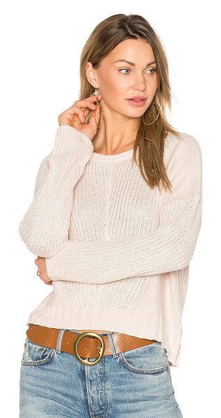 Rails Elsa Sweater in blush - 55% acrylic 45% cotton. Hand wash cold. Knit fabric....