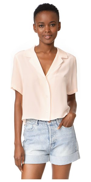 Rails maui blouse in blush - A relaxed RAILS blouse with a cropped profile, rendered...