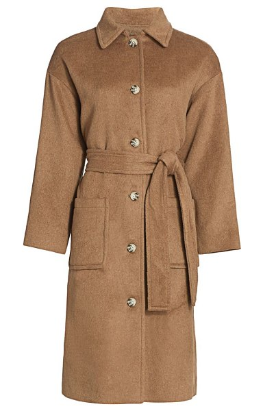 Rails nadine wool-blend trench coat in camel
