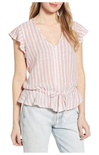Rails ruffle shirt in pink - Light and lovely, this sweetly patterned shirt features...