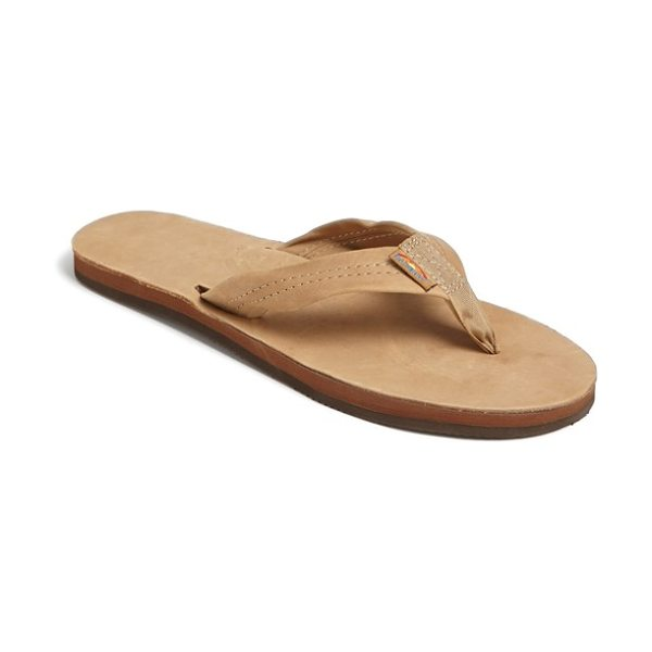 RAINBOW wide strap thong - Casual flip-flop features layers of sponge memory rubber...