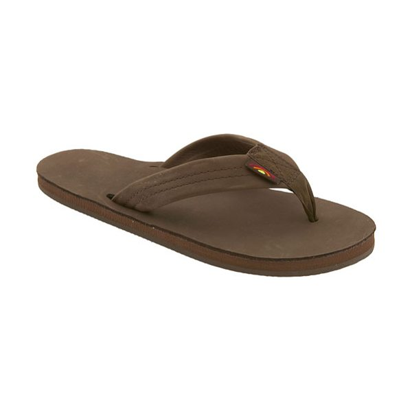 Rainbow wide strap thong in espresso - Casual flip-flop features layers of sponge memory rubber...