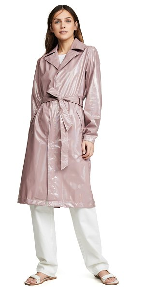 Rains holographic overcoat in holographic woodrose - Fabric: Technical weave Snap at cuffs Holographic...