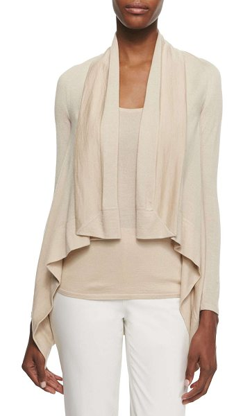 Ralph Lauren Black Label Cashmere-blend square draped-front cardigan in honey