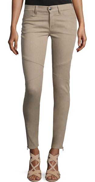 """Ralph Lauren Collection 400 Matchstick Ankle Jeans in taupe - Ralph Lauren """"400 Matchstick"""" seamed stretch-denim..."""