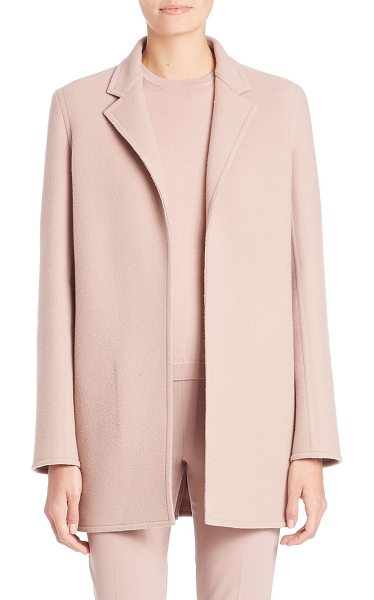 Ralph Lauren Collection addison cashmere blend coat in vintage rose - Sophisticated tailoring in a cozy cashmere blend. Notch...