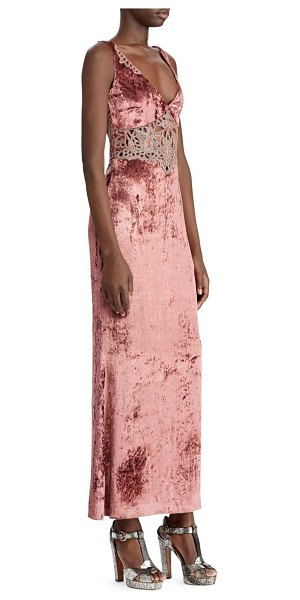 Ralph Lauren Collection 50th anniversary annetta velvet evening dress in pink - From the 50th Anniversary Collection. This flapper-esque...