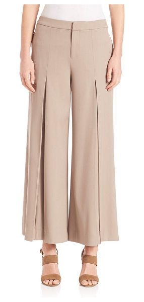 Ralph Lauren Collection beatriz pants in truffle - Stretch wool in an of-the-moment cropped silhouette....