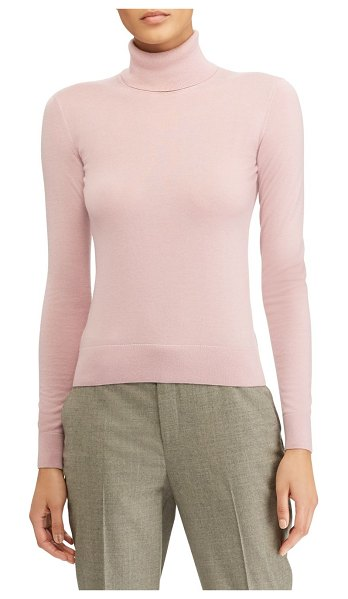 Ralph Lauren Collection cashmere turtleneck sweater in peony - Luxurious fine cashmere enhances the soft texture of...