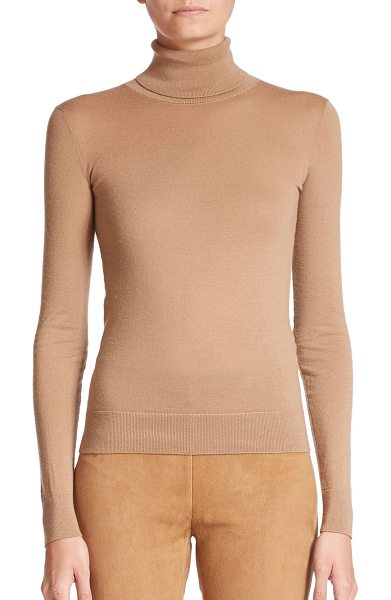 Ralph Lauren Collection Cashmere turtleneck sweater in camel - This essential wardrobe staple is knit in a streamlined...