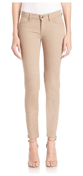 Ralph Lauren Collection matchstick skinny pants in taupe - Edgy hardware updates skinny wardrobe essential. Belt...