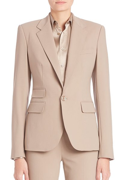 RALPH LAUREN COLLECTION Parker blazer in truffle - Timeless refined blazer, with classic tailoring. Notch...