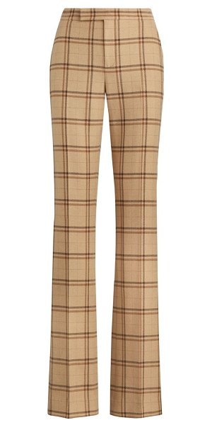 Ralph Lauren Collection quinlan windowpane check pants in brown
