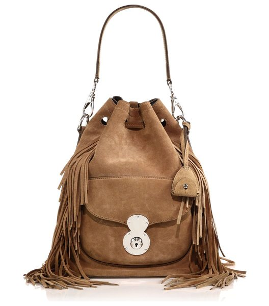 RALPH LAUREN COLLECTION Ricky fringed suede bucket bag - Ralph Lauren's classic Ricky bag is reinterpreted in...