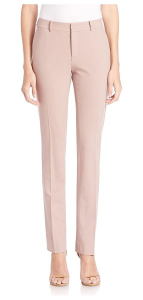 Ralph Lauren Collection sydney stretch wool pants in winter rose - Slim-fit pair tailored in Italian stretch wool. Belt...