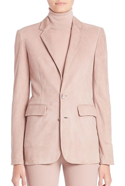 Ralph Lauren Collection yvette suede blazer in winter rose - Refined, tailored blazer, reimagined in soft suede....