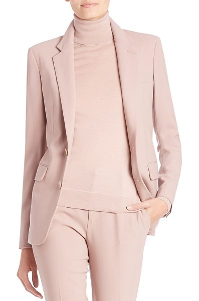 Ralph Lauren Collection yvette wool jacket in winter rose - Polished staple updated in sumptuous Italian wool....